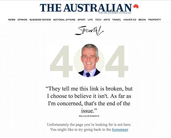 The Australian Creative 404 Page